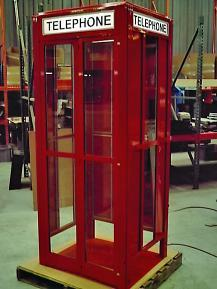 SUPERMAN TELEPHONE BOOTH ENCLOSURE