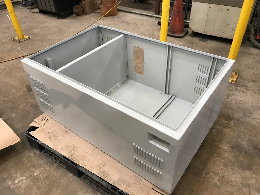 Custom Fabricated Sheet Metal Enclosure